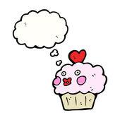 バレンタインのカップケーキ — ストックベクタ