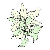 Realistic flower — Stock Vector