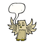Owl with speech bubble — Stock Vector
