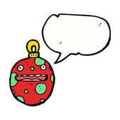 Rode kerstbal — Stockvector