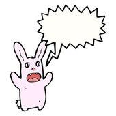 Funny zombie bunny rabbit — Vector de stock