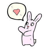 Zombie rabbit in love — Stock Vector