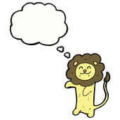Lion on a white background — Stock Vector