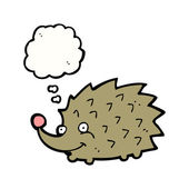 Funny hedgehog — Stock Vector