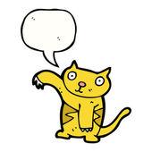 Söt katt — Stockvektor