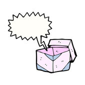 Caja rosada — Vector de stock