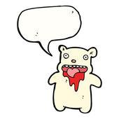 Gross polar bear — Stock Vector