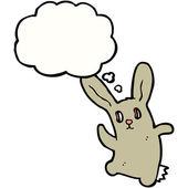Crazy spooky rabbit — Stock Vector