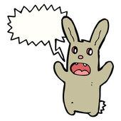 Crazy rabbit — Stock Vector