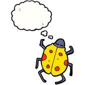 Yellow lady bug — Stock Vector