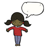 Girl with speech bubble — Stock Vector