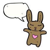 Roztomilý králíček — Stock vektor