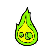 Green flame — Stock Vector