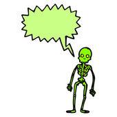 Spooky green skeleton — Stock Vector