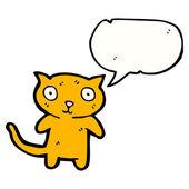 Komik küçük kedi — Stok Vektör