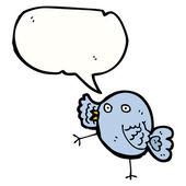 Funny blue bird — 图库矢量图片