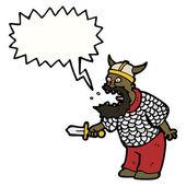 Crazy medieval warrior — Stock Vector