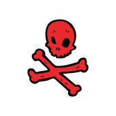 Red skull and crossbones — Stock Vector