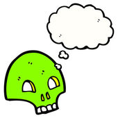 Graffiti style spooky skull — Stock Vector