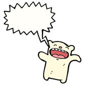 Lustige Eisbär teddy — Stockvektor