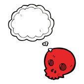 Red talking skull — Stock Vector