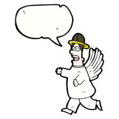 Angel with speech bubble — Stock Vector