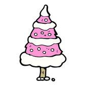 Pink christmas tree — Stock Vector