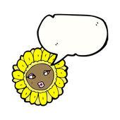 Vacker blomma ansikte — Stockvektor