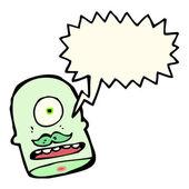 Funny monster head — Stock Vector