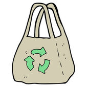 Recycling bag — Stock Vector