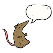 Talking rat — Stock Vector