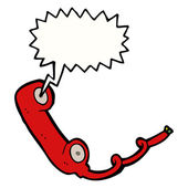 Retro telephone — Stockvektor