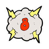 Lightning cloud with number eight — Stock Vector