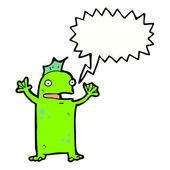 Happy swamp monster — Stock Vector