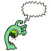 Gross slime alien — Stock Vector