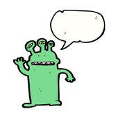 Friendly alien — Stock Vector