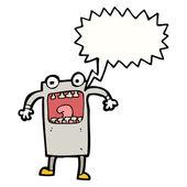 Crazy robot — Stock Vector