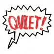 Cartoon shout to be quiet — Image vectorielle