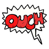 Ouch shout — Stock Vector