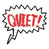 Cartoon shout to be quiet — Stockvektor