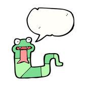 Kreslený syčení hada — Stock vektor