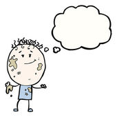 Cartoon dirty doodle boy — Stock Vector