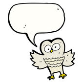 Talking Owl — Stock Vector