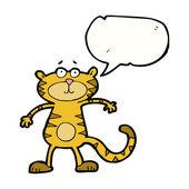 Cartoon tiger talking — Stock Vector
