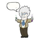 Cartoon genius scientist — Stock Vector