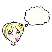 Confused blond woman — Stock Vector