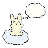 Rabbit floating on cloud — Stock Vector