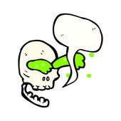 Skull spurting slime — Stock Vector