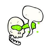 Skull spurting slime — Stock Vector