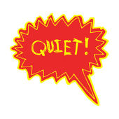 Shout for quiet — Stock Vector